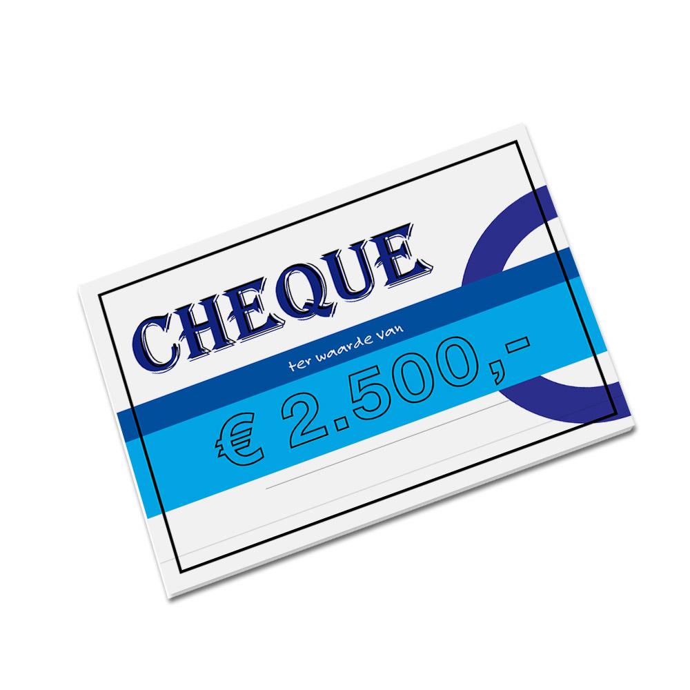 cheque maken
