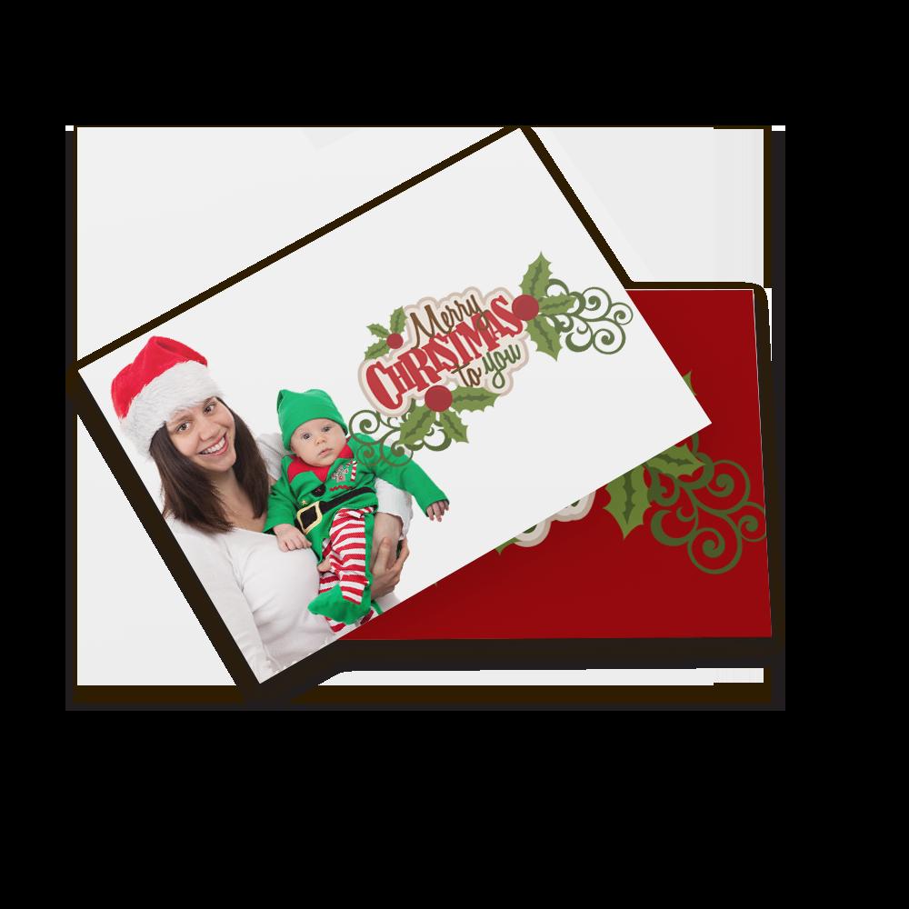Kerstkaart met foto