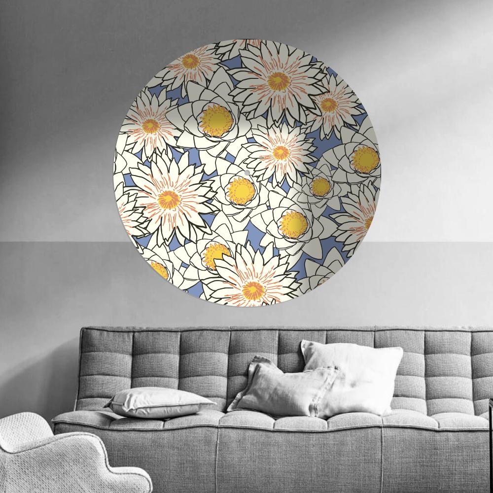 behangcirkel met print